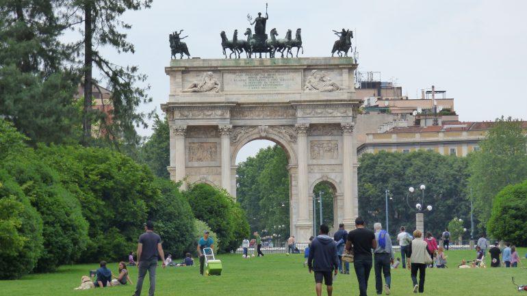 Il Parco Sempione, a Milano